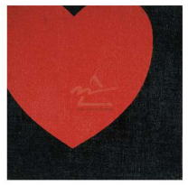 ウォーホル Heart, 1979 (red on black)